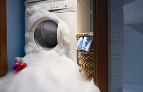 Broken Washing Machine Flood Damage Restoration in Lincolnwood